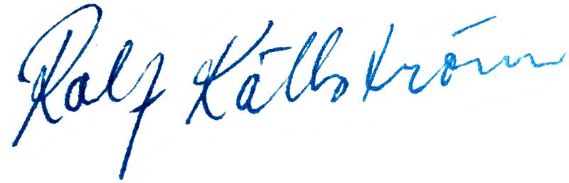 Rolf Källström, signatur
