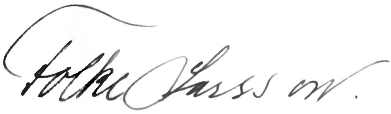 Folke Larsson, signatur