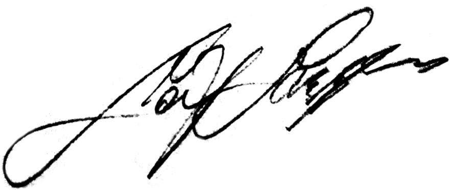 Leif Larsson, signatur