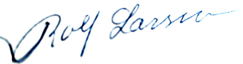 Rolf Larsson, signatur