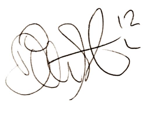 Dick Last, signatur