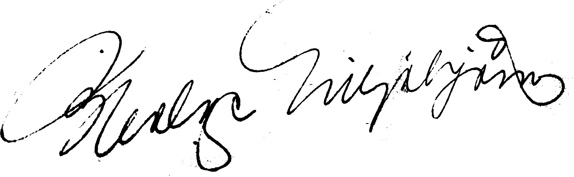 Helge Liljebjörn, signatur