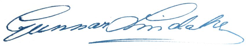Gunnar Lindahl, signatur