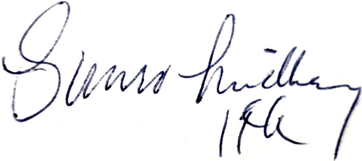 Gunro Lindberg, signatur