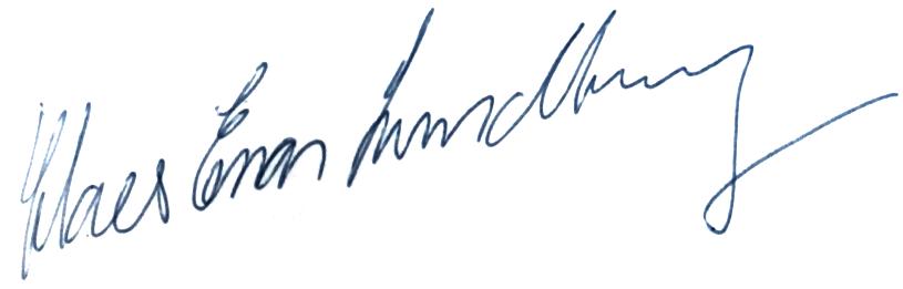 Claes-Enar Lundberg, signatur