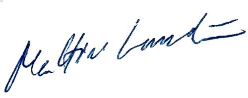Mattias Lundström, signatur