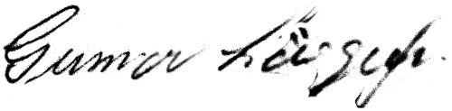 Gunnar Löfgren, signatur