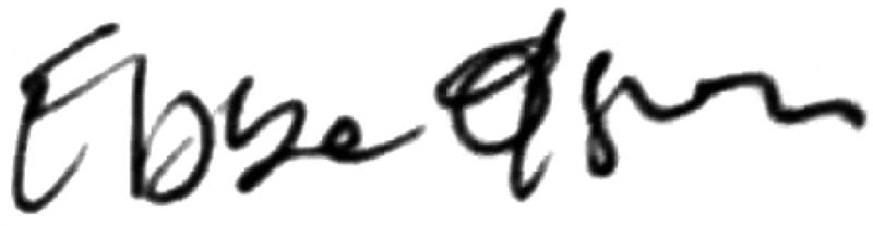 Eddy Magnusson, signatur