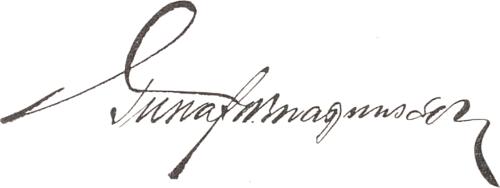 Gustaf Magnusson, signatur