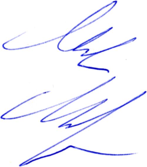Mikael Martinsson, signatur