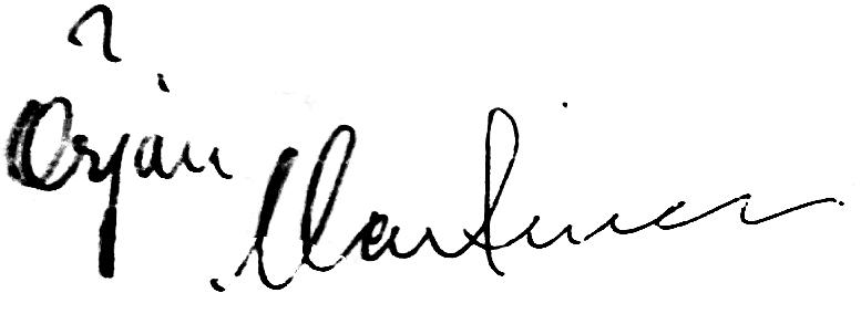 Örjan Martinsson, signatur
