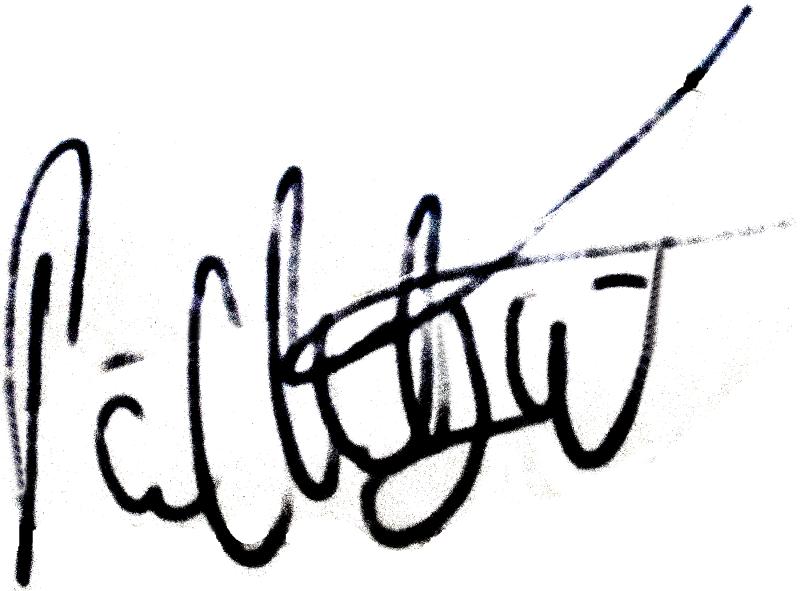 Pär Millqvist, signatur