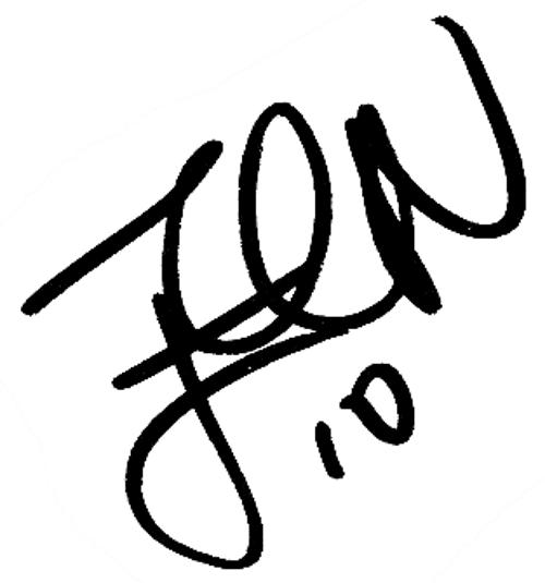 Erik Nevland, signatur