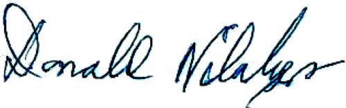 Donald Niklasson, signatur