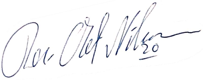 Per-Olof Nilsson, signatur