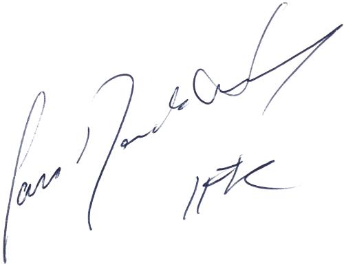 Jan Nordström, signatur