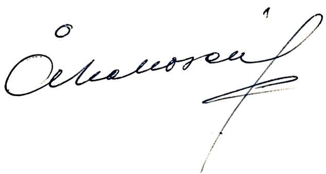Åke Norén, signatur