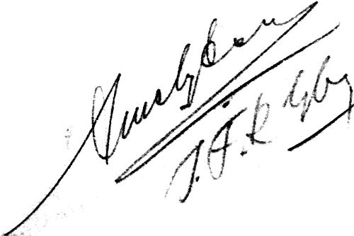 Arne Nyberg, signatur