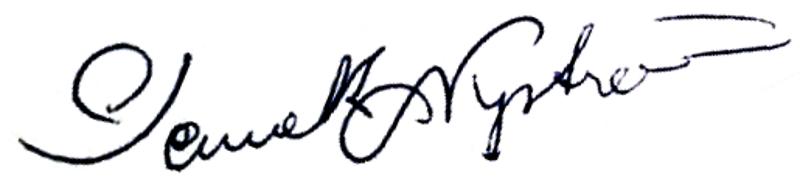 Kenneth Nyström, signatur