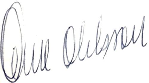 Owe Ohlsson, signatur