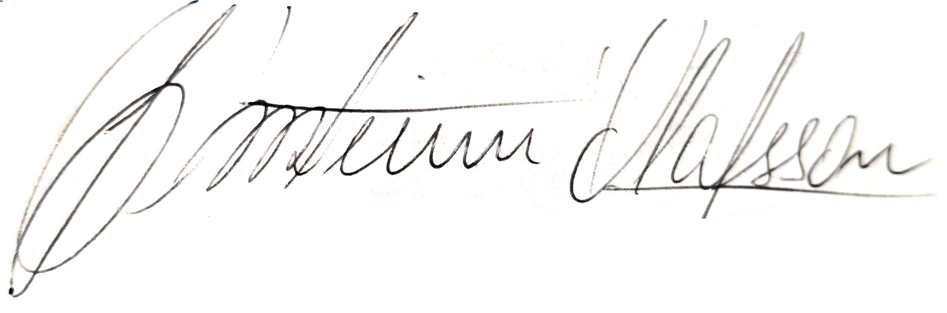 Thorsteinn Ólafsson, signatur