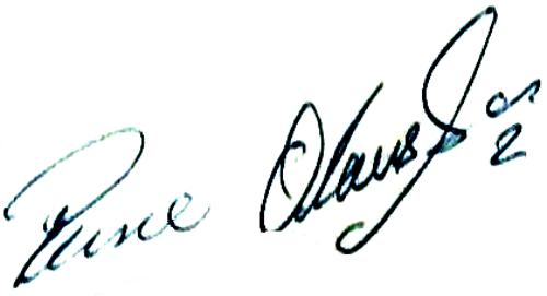 Reine Olausson, signatur