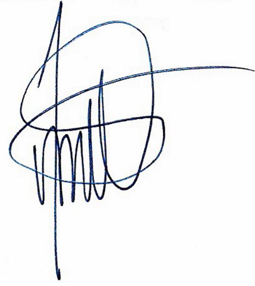 Jonas Olsson, signatur