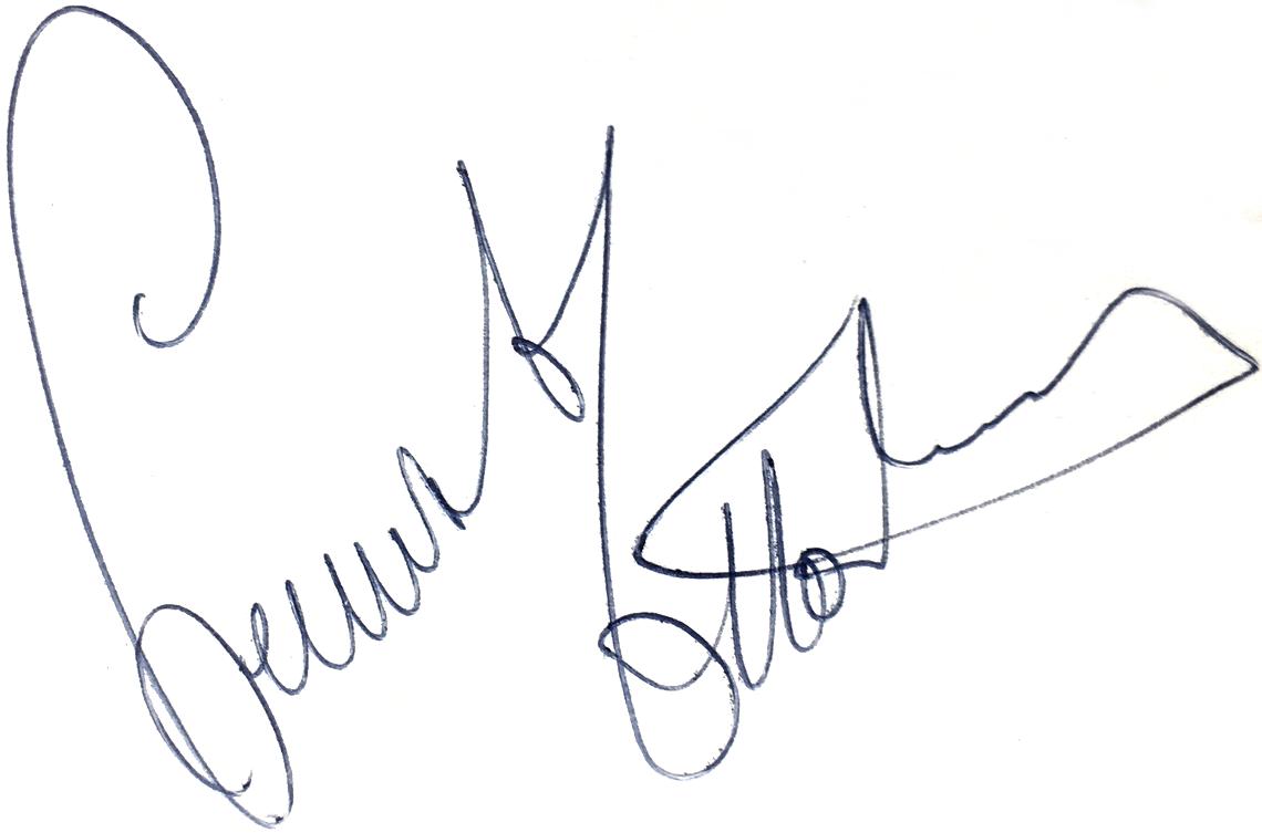 Lennart Ottordahl, signatur