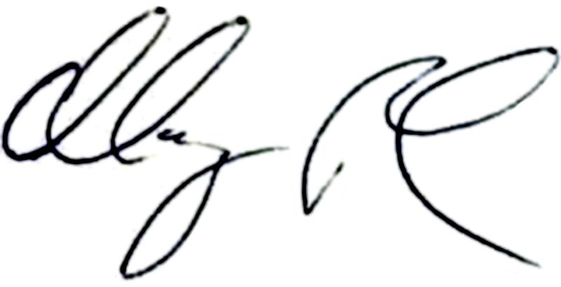 Magnus Pehrsson, signatur