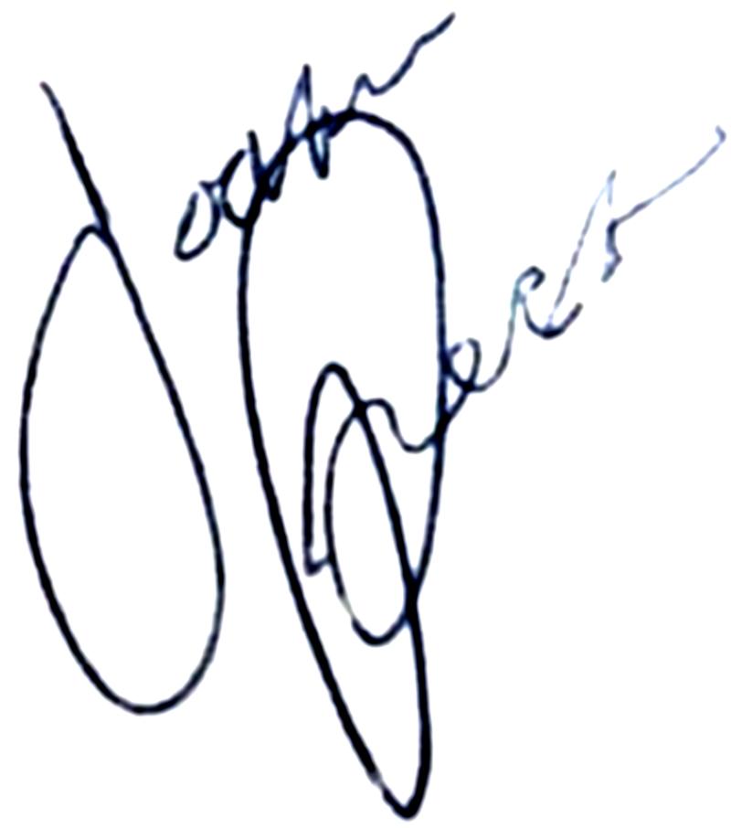 Joakim Persson, signatur