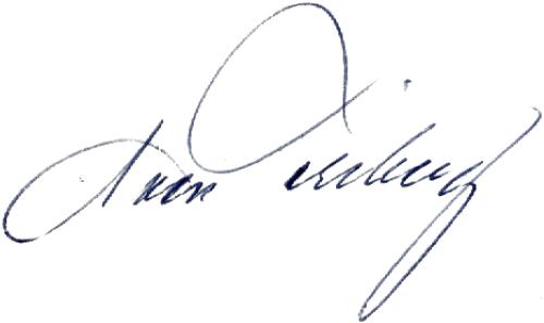 Sven Friberg, signatur