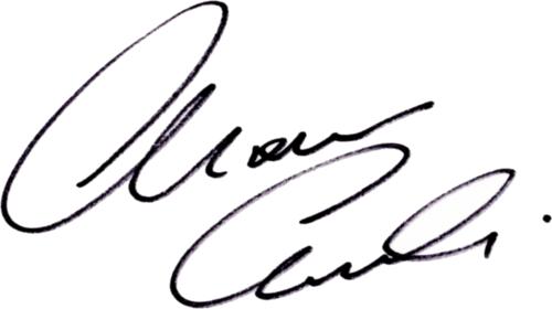 Thomas Ravelli, signatur
