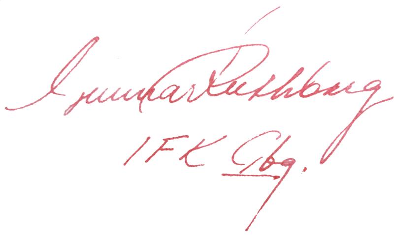 Gunnar Ruthberg, signatur