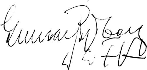 Gunnar Rydberg, signatur