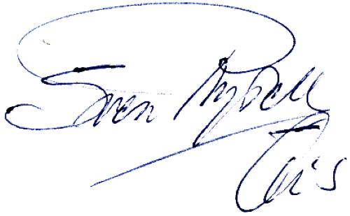 Sven Rydell, signatur