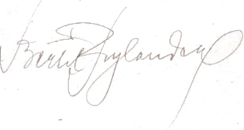 Bertil Rylander, signatur
