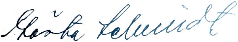 Gösta Schmidt, signatur
