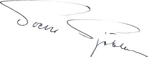Sven Sjöblom, signatur