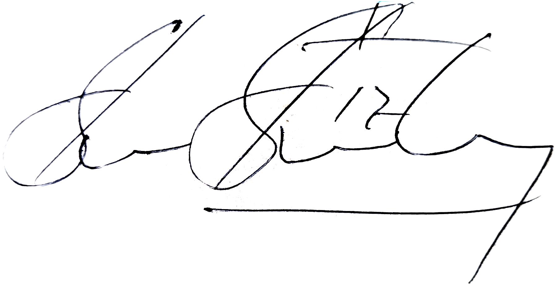 Glenn Strömberg, signatur