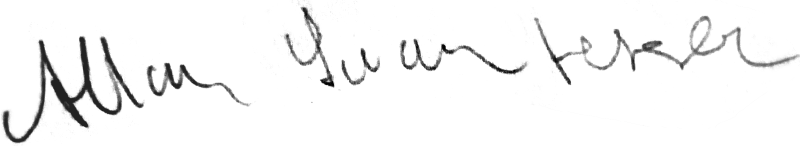 Allan Svantesson, signatur