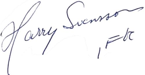 Harry Svensson, signatur