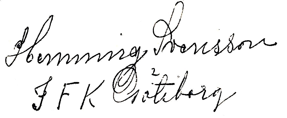Henning Svensson, signatur