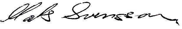 Mats Svensson, signatur