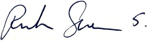 Ruben Svensson, signatur