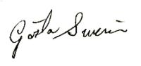 Gösta Swerin, signatur