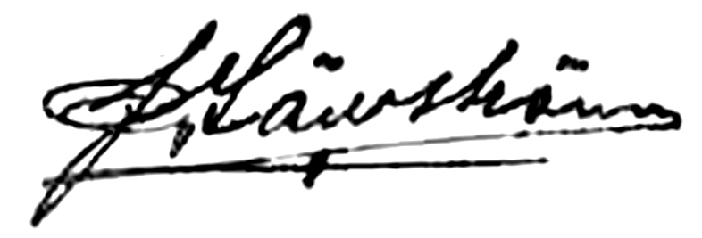John Säwström, signatur