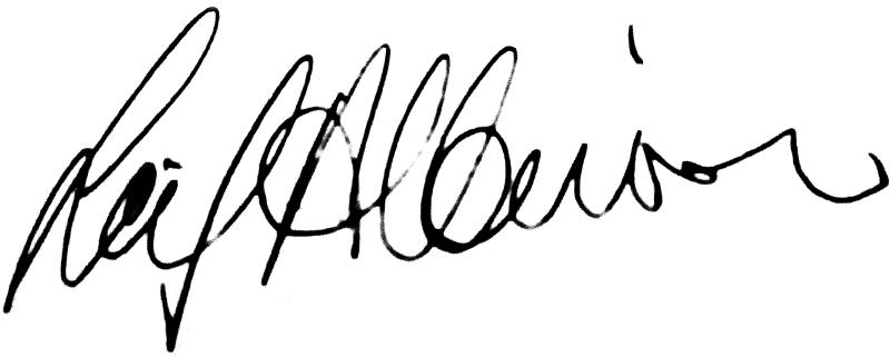 Leif Albinsson, signatur