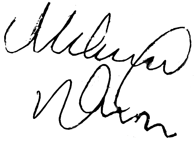 Martin Ulander, signatur