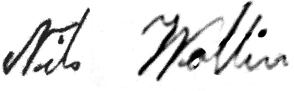 Nils Wallin, signatur