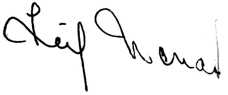 Leif Wendt, signatur